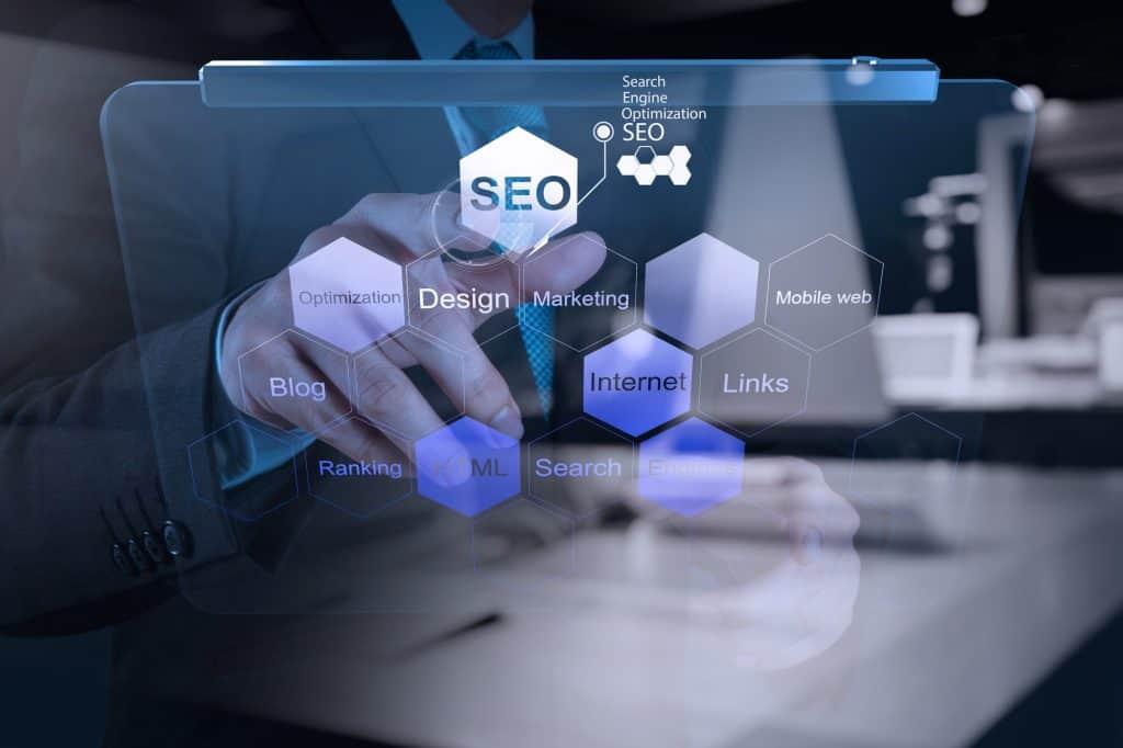 SEO graph and digital marketing